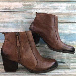 Kelly & Katie Brown Antiqued Leather Ankle Boots